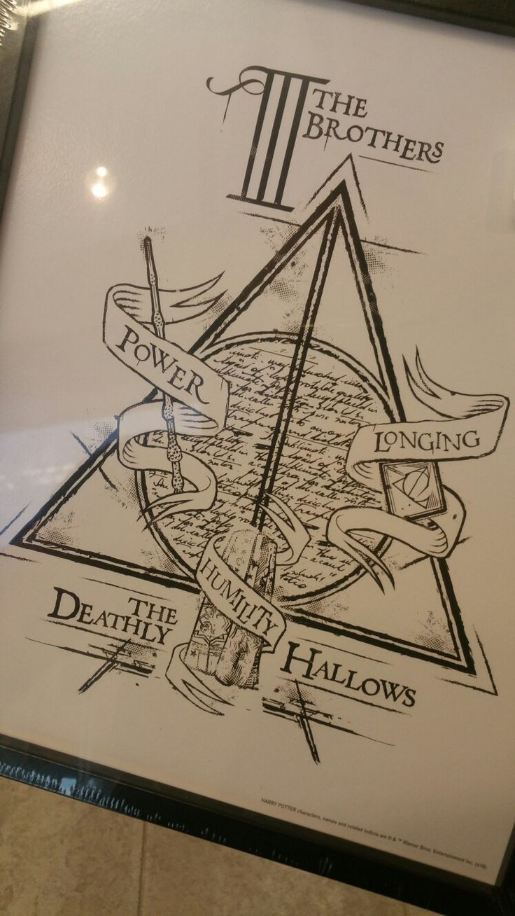 Harry potter tattoo idea hptattoo deathlyhallows threebrothers drawings harry potter - Harry potter dessin ...