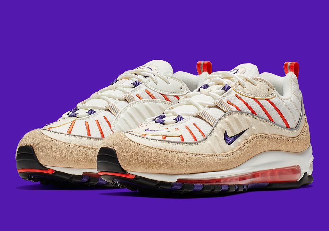 4cb46fb620343d The Nike Air Max 98 Arrives In Sail And Court Purple
