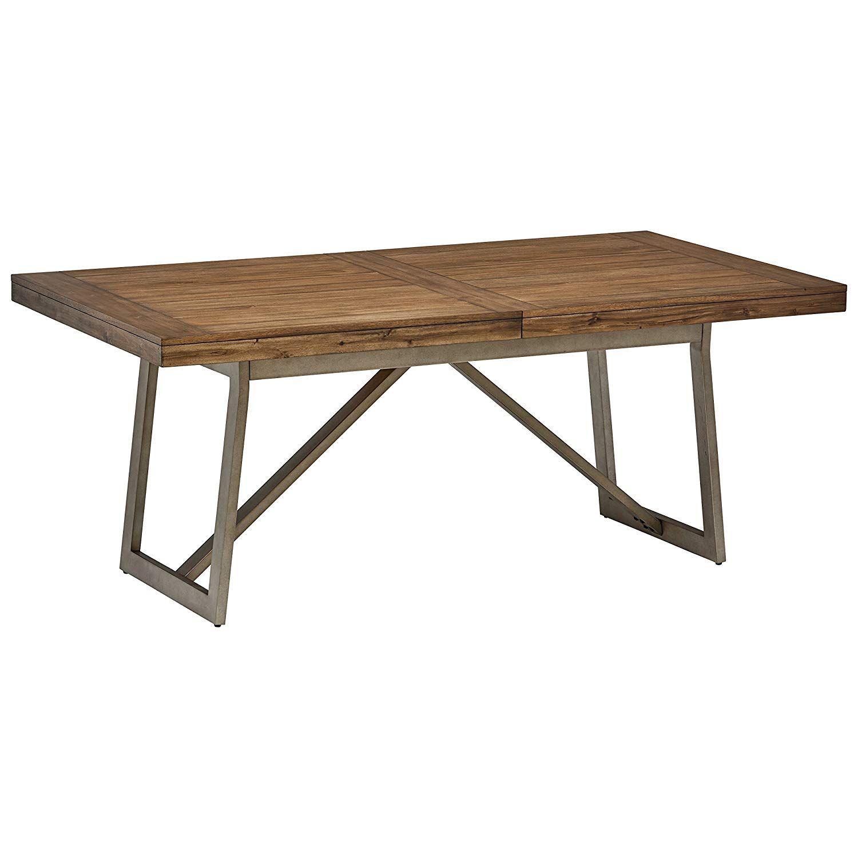 Amazon Com Stone Beam Hughes Casual Wood Dining Table 60 80 W