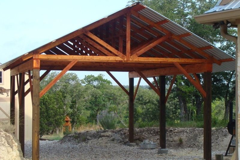 Pdf woodwork post and beam carport plans download diy for Diy timber frame plans
