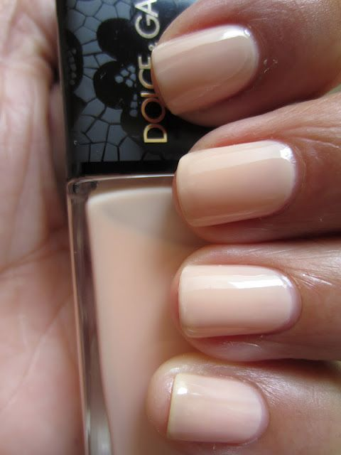 Dolce and Gabbana Nude nail polish swatch. What a gorgeous nude nail ...
