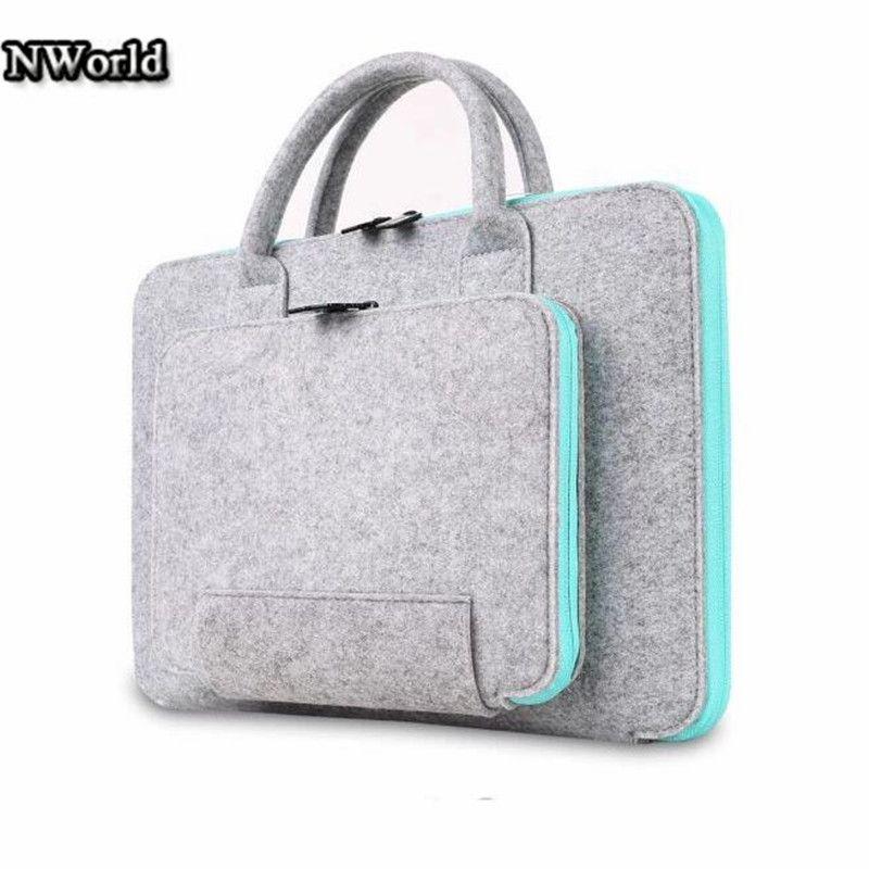Venta caliente sintió universal laptop case bolsa de portátil maletín handlebag bolsa caja de la manga para macbook air pro 13 retina