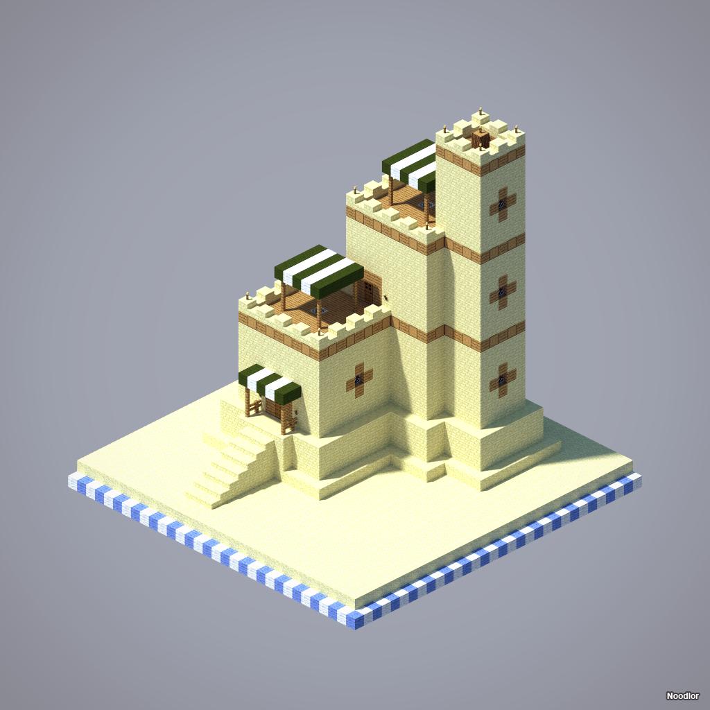 Fortified House. Minecraft HäuserMinecraft BauenTempelPerspektiveHaus Ideen ModellArchitekturEinfache ...