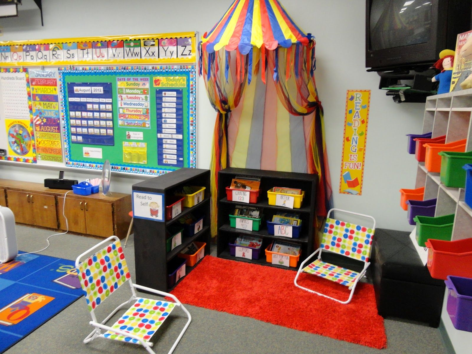 Classroom Reading Ideas : D reading area spring decoration preschool