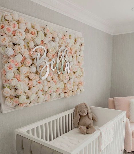 Oh Baby Flower Wall Bedding