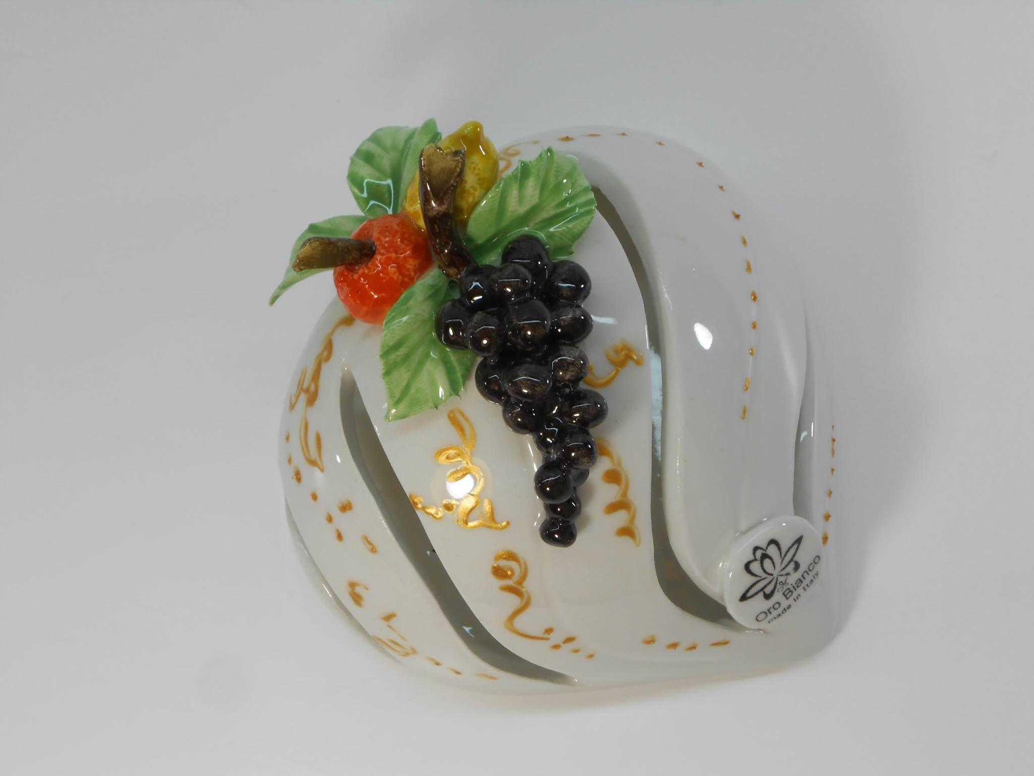 Appendino cuore da cucina in ceramica decoro frutta. | Decorazioni ...