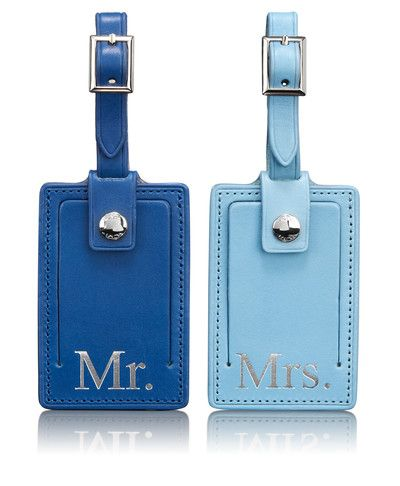 Engagement Wedding Shower Gift Tumi Luggage Tag Box Set