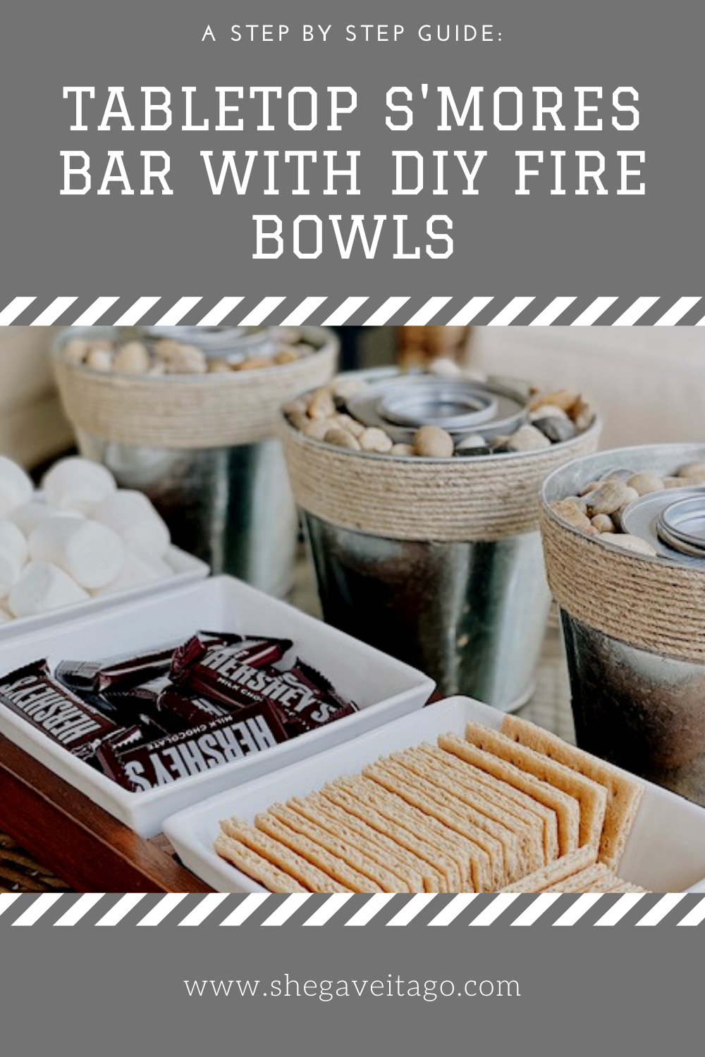 Tabletop S'mores With DIY Fire Bowls - She Gave It A Go