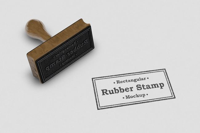 Realistic Rubber Stamp Logo Mockup Template Mediamodifier