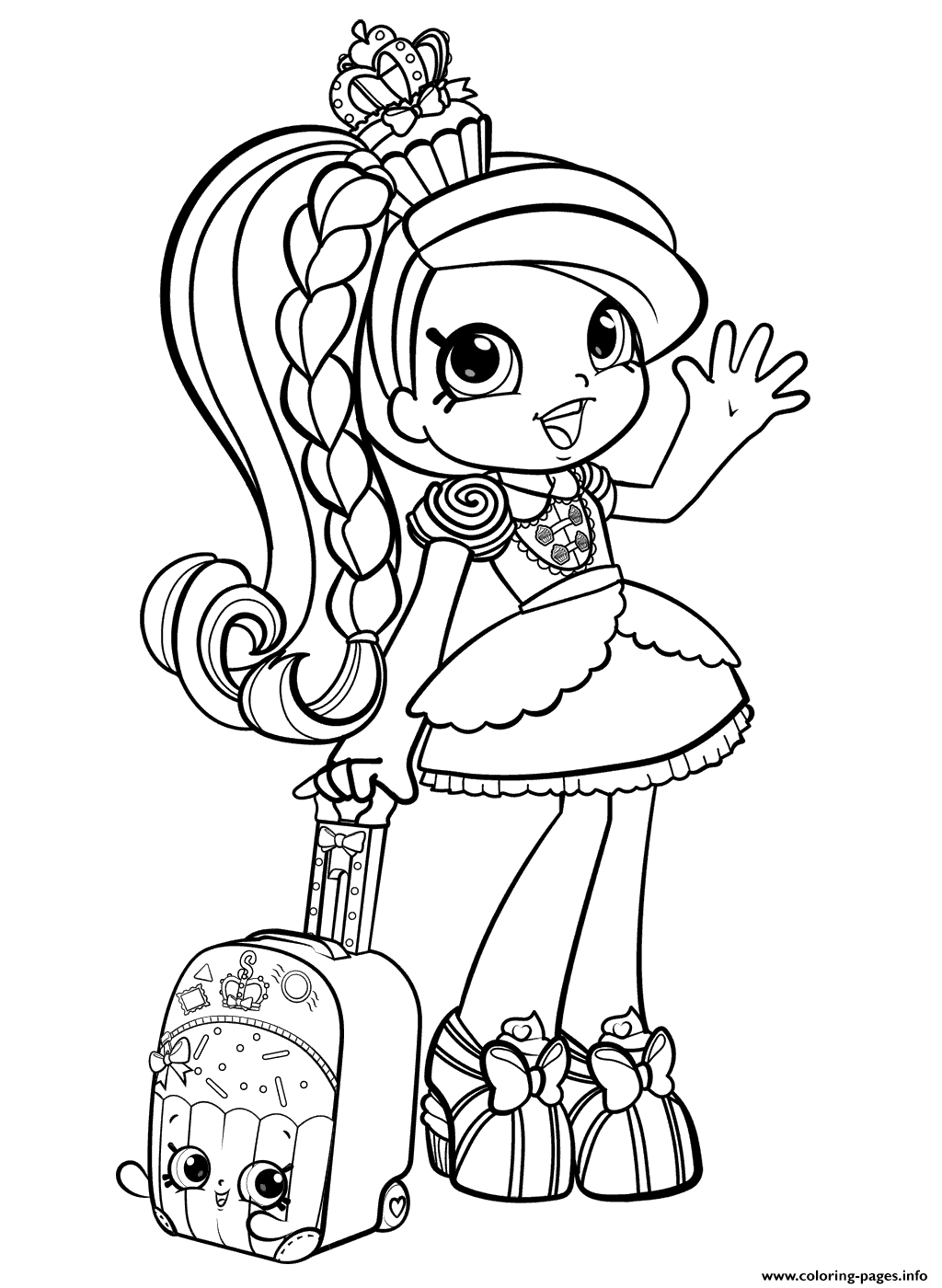 Fresh Coloring Pages Shopkins Free