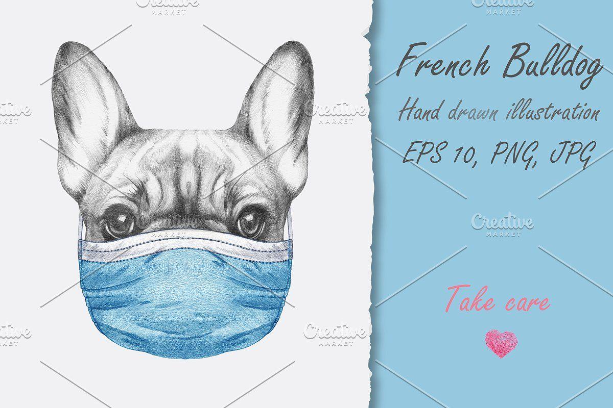 French Bulldog Face Mask In 2020 Bulldog French Bulldog Face Mask