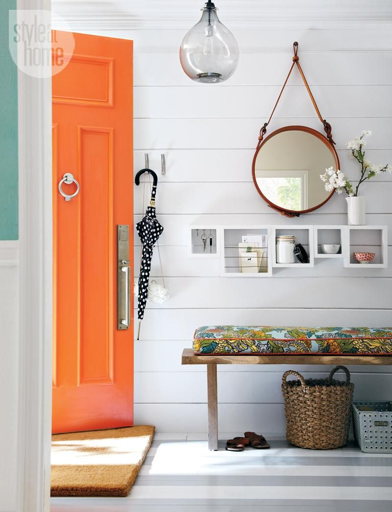 Orange is the new black doors and blinds and floors pinterest