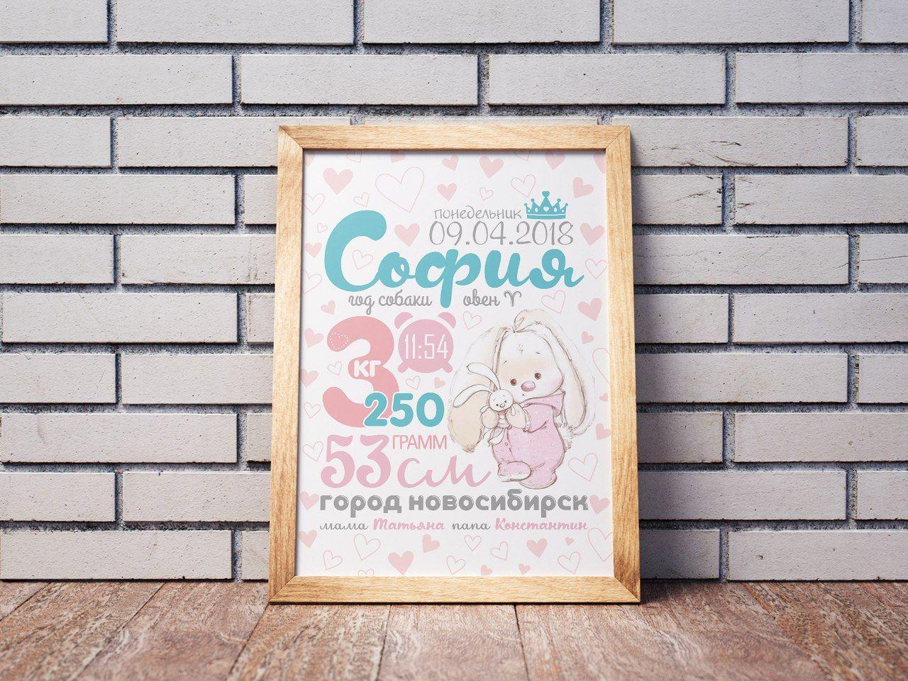Постеры с датой
