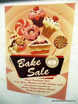 Prêt à Papier A Bake Sale with a cause! - Fundraiser event for - bake sale flyer