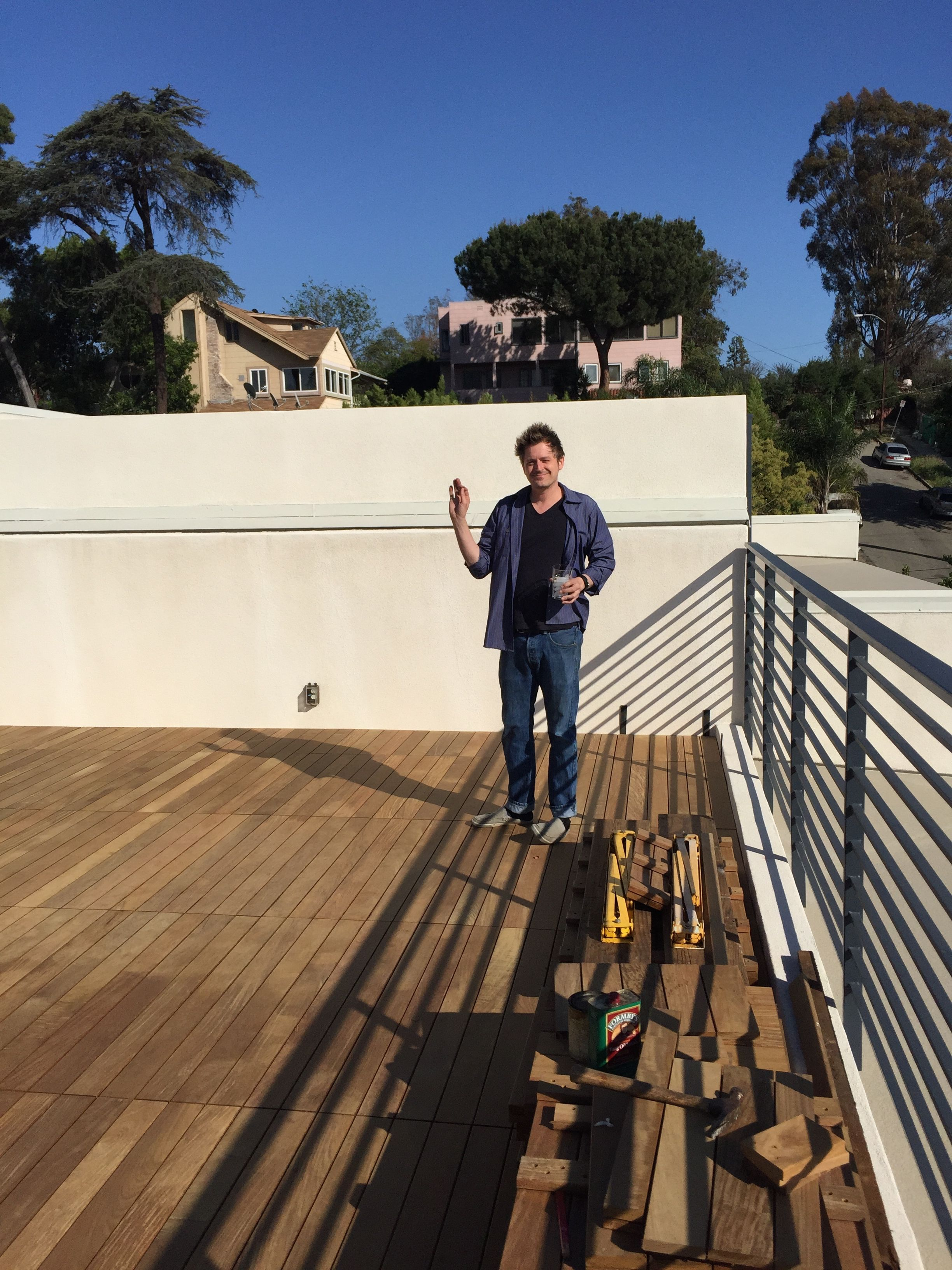 Customer Who Built His Deck With Bison Wood Tiles. What A Gorgeous Space! #