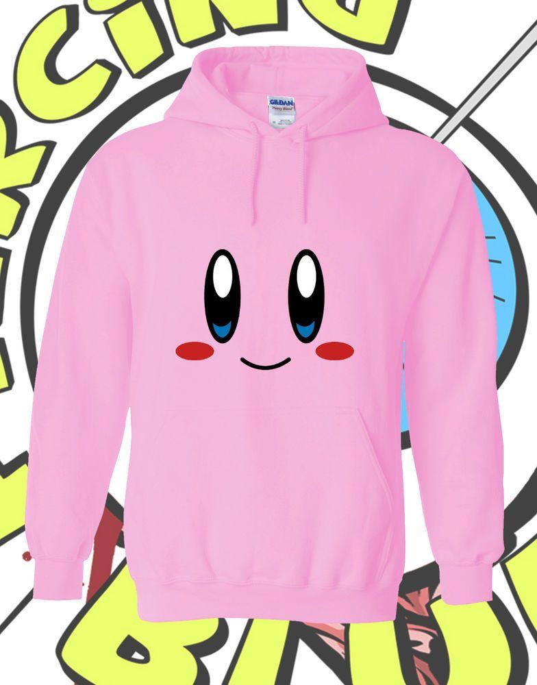 caf965d78fe3 Kirby Dreamland Hoodie Nintendo Cute Pink Adult Mens Ladies Hooded ...