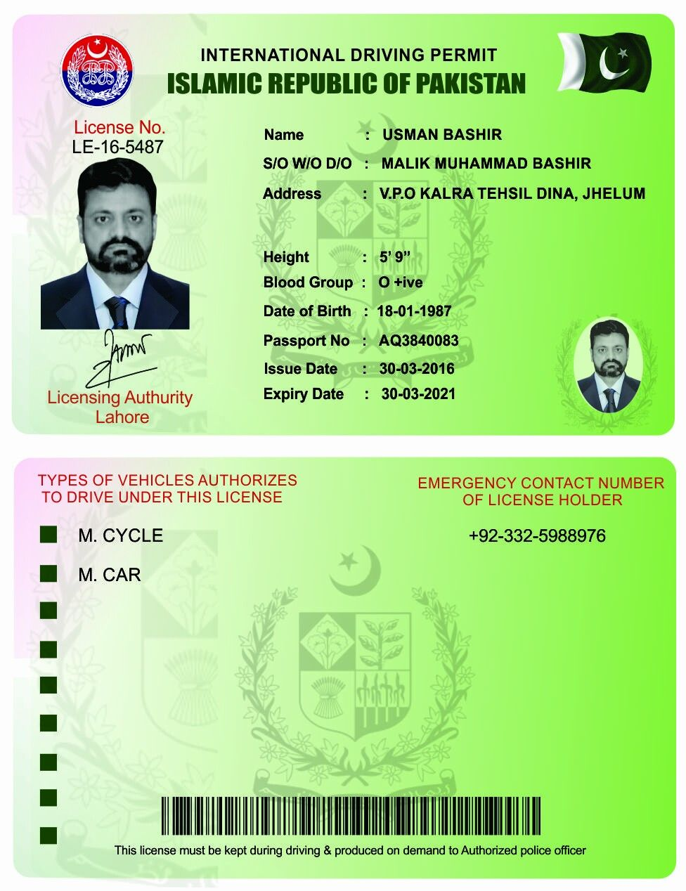 International Driver S License Itca Home Usa Print