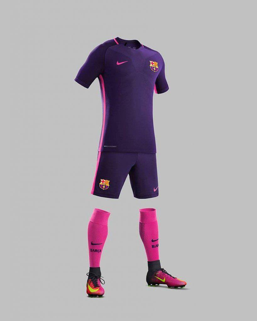 a686b2bd6 FC Barcelona Away Kit 2016-17   jersey   Barcelona football, Fc ...