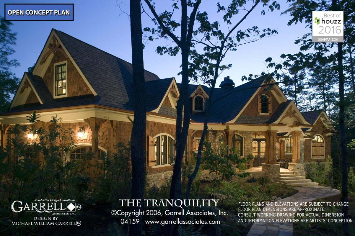 Tranquility 04159 Garrell Associates Inc Craftsman Style House Plans Cottage House Plans Gable House