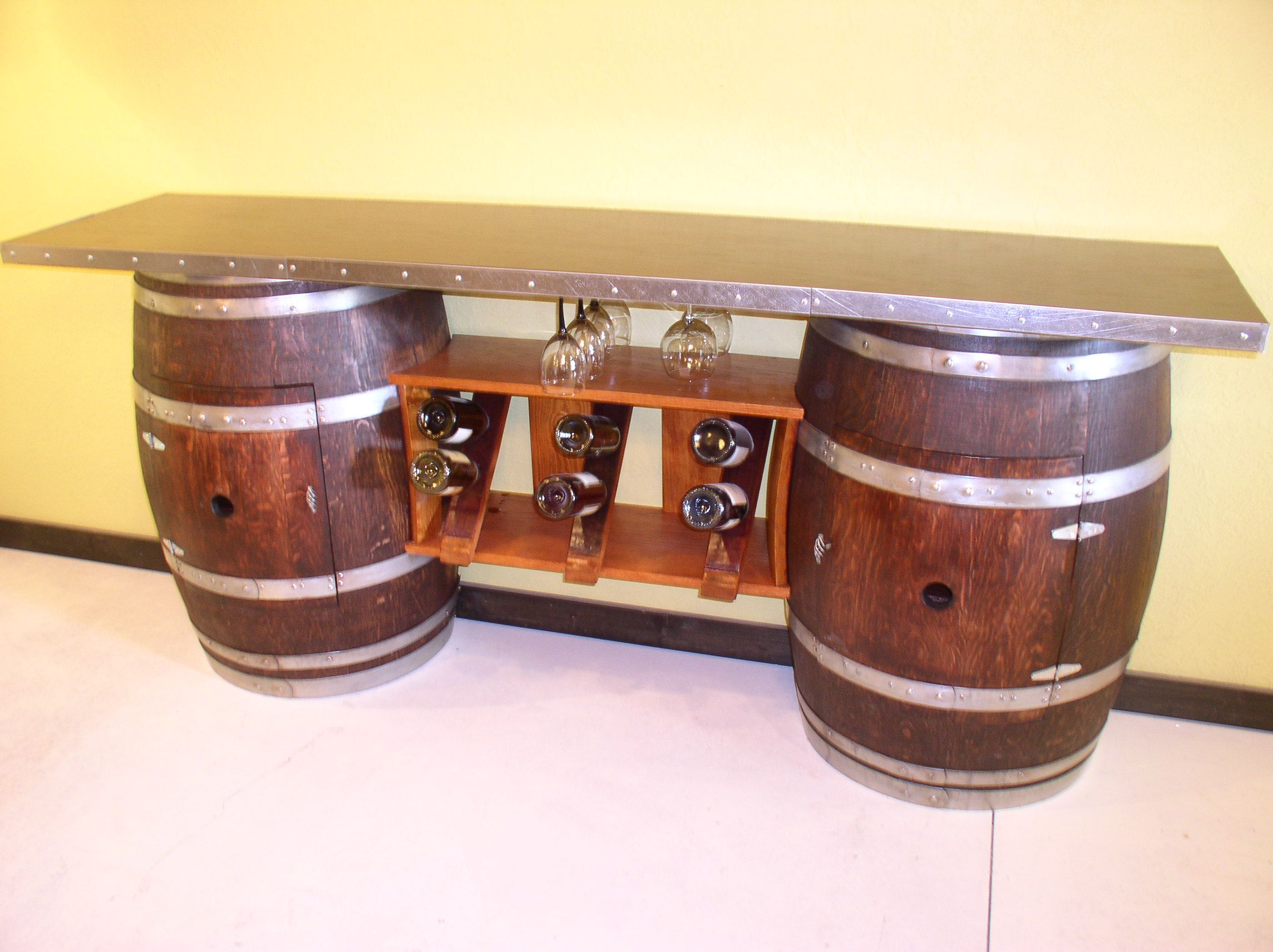 Diy wine barrel table - Find This Pin And More On A Barrel Of Fun Wine Bar Furniture With Sink