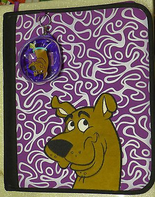 New Scooby Doo 3 Ring Zippered Binder Plush Scooby Face Storage