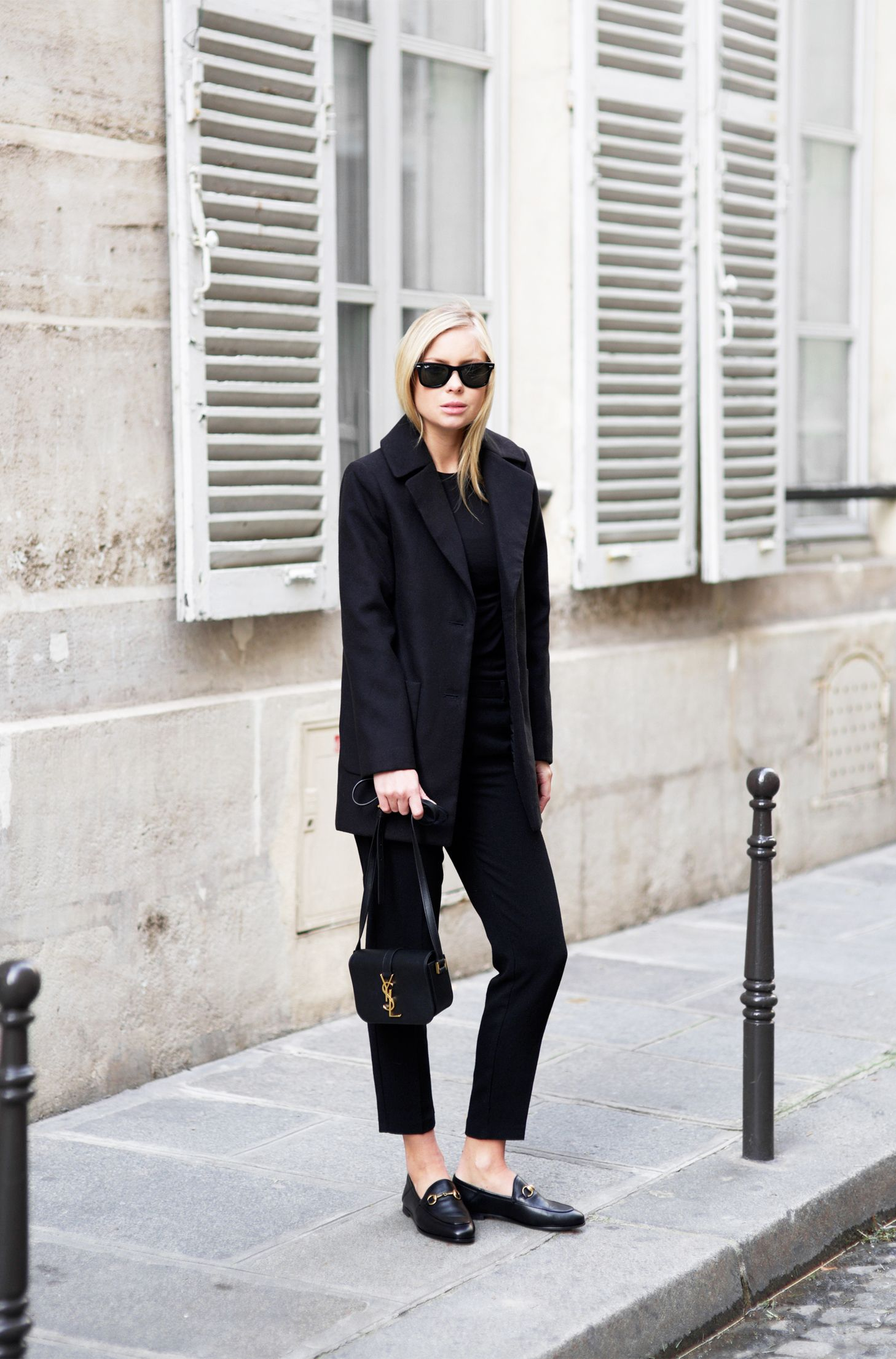 05cce18d4552 Loafers can be the perfect finish to a smart outfit for work or a more  formal occasion. Victoria Tornegren looks sleek and elegant in a matching  blazer and ...