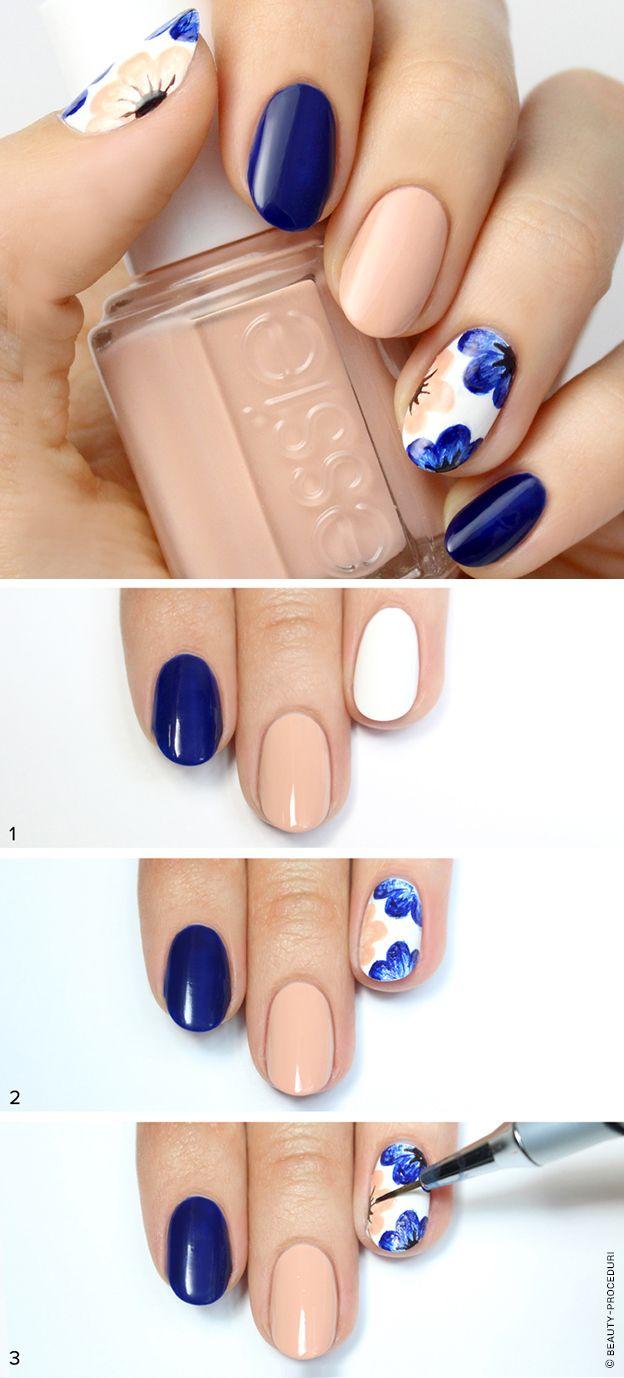 тенденция дизайна коротких ногтей в домашних условиях