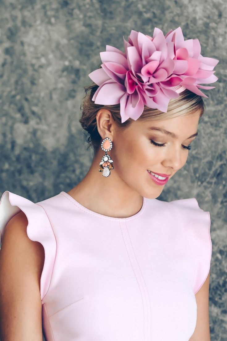 Courtney Fascinator by Morgan and Taylor. A shade of pink perfect for Oaks  Day! 07092469843