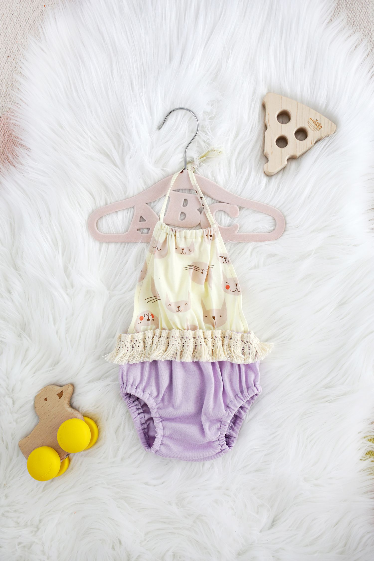 Baby Halter Top Romper DIY | Fabric Crafts, Sewing Tips, Sewing ...