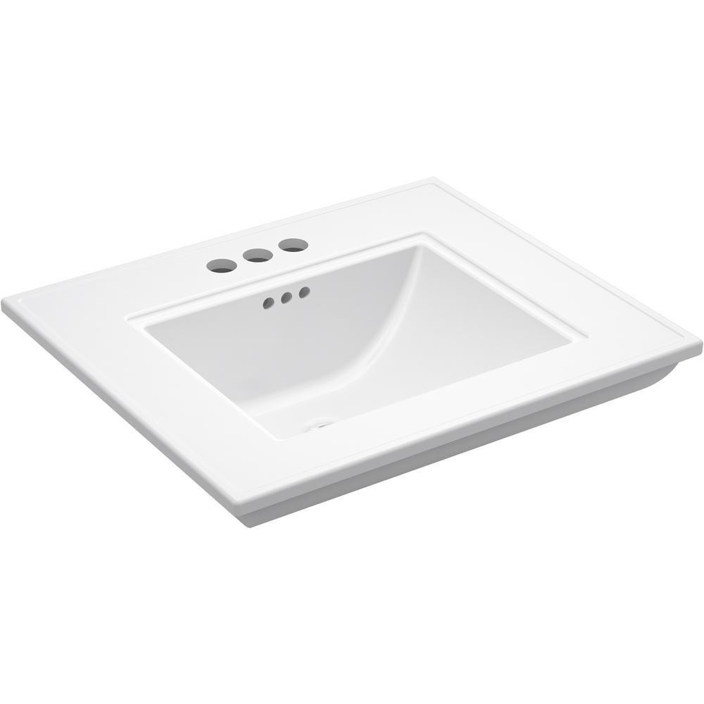 Kohler Memoirs Stately 24 5 In X 4 In Centerset Console Sink