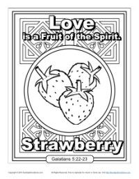 Fruit Of The Spirit For Kids Love Coloring Page Bible Study