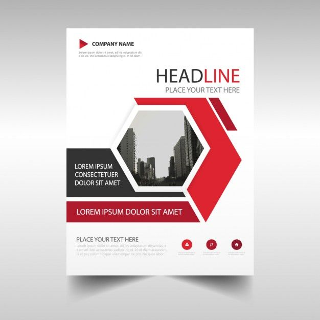 Corporate brochure with hexagonal shapes Free Vector Leaflet - company profile free template