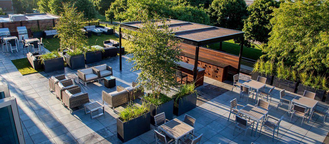 Planters9 Roof Garden Design Rooftop Patio Roof Garden