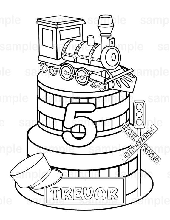 Personalized Printable Transportation Choo Choo Train Favor Etsy Coloring Pages For Kids Coloring For Kids Coloring Pages