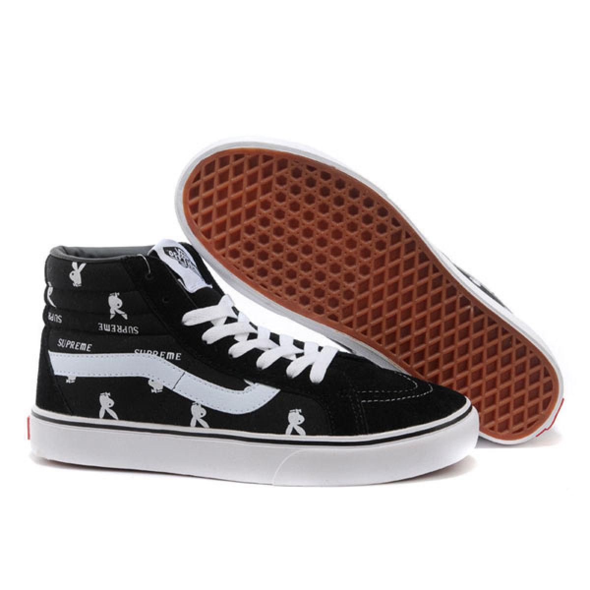 Vans Shoes Black Supreme X Playboys Sk8 Hi Shoes Unisex Classic