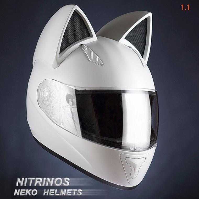 neko helmet des casques de moto adorables avec des oreilles de chat motorcycle outfit. Black Bedroom Furniture Sets. Home Design Ideas