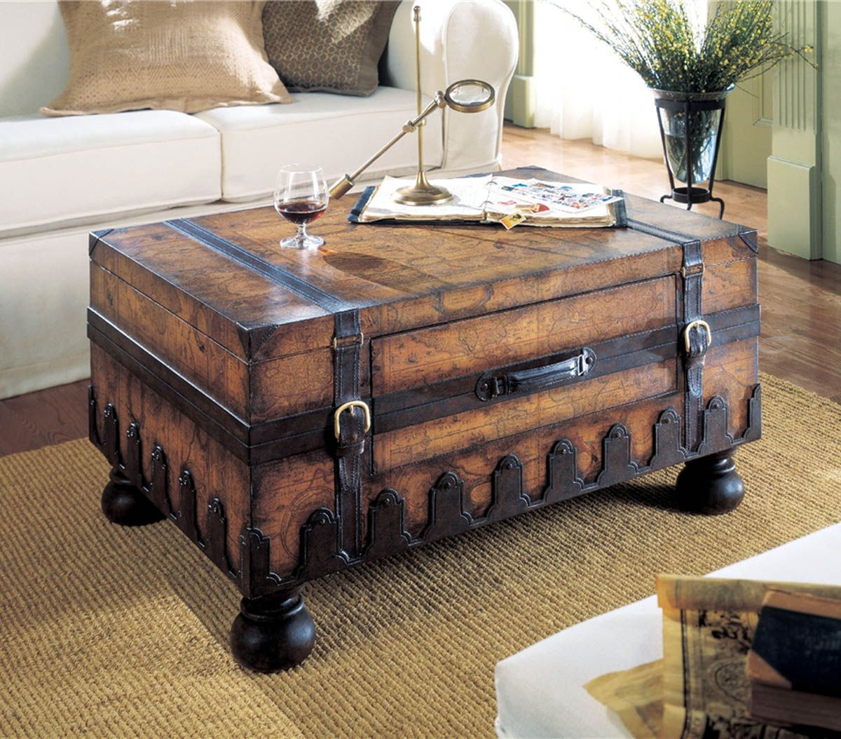 trunk coffee table living room furniture good colors for rooms paint 17 old trunks turned into beautiful vintage sarah