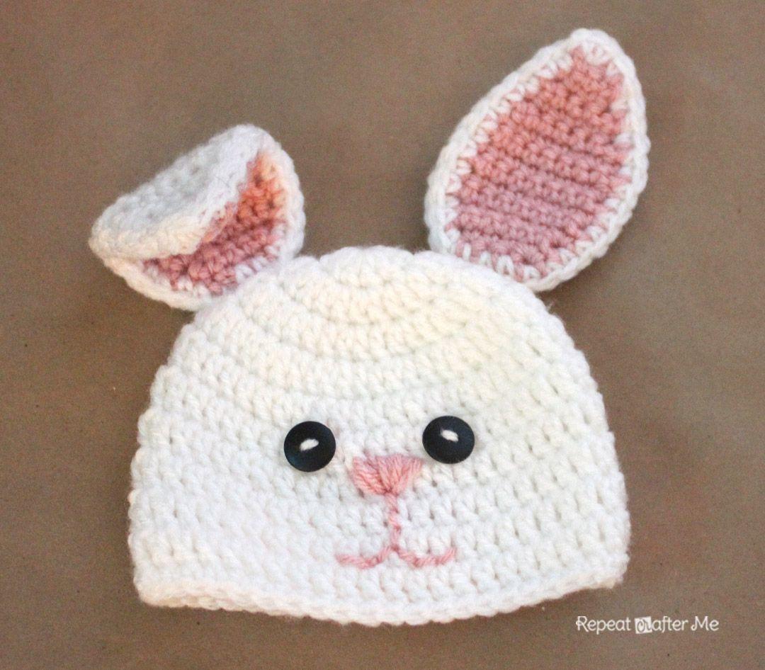Crochet Bunny Hat Pattern | Easter | Pinterest | Gorros, Conejo y Tejido