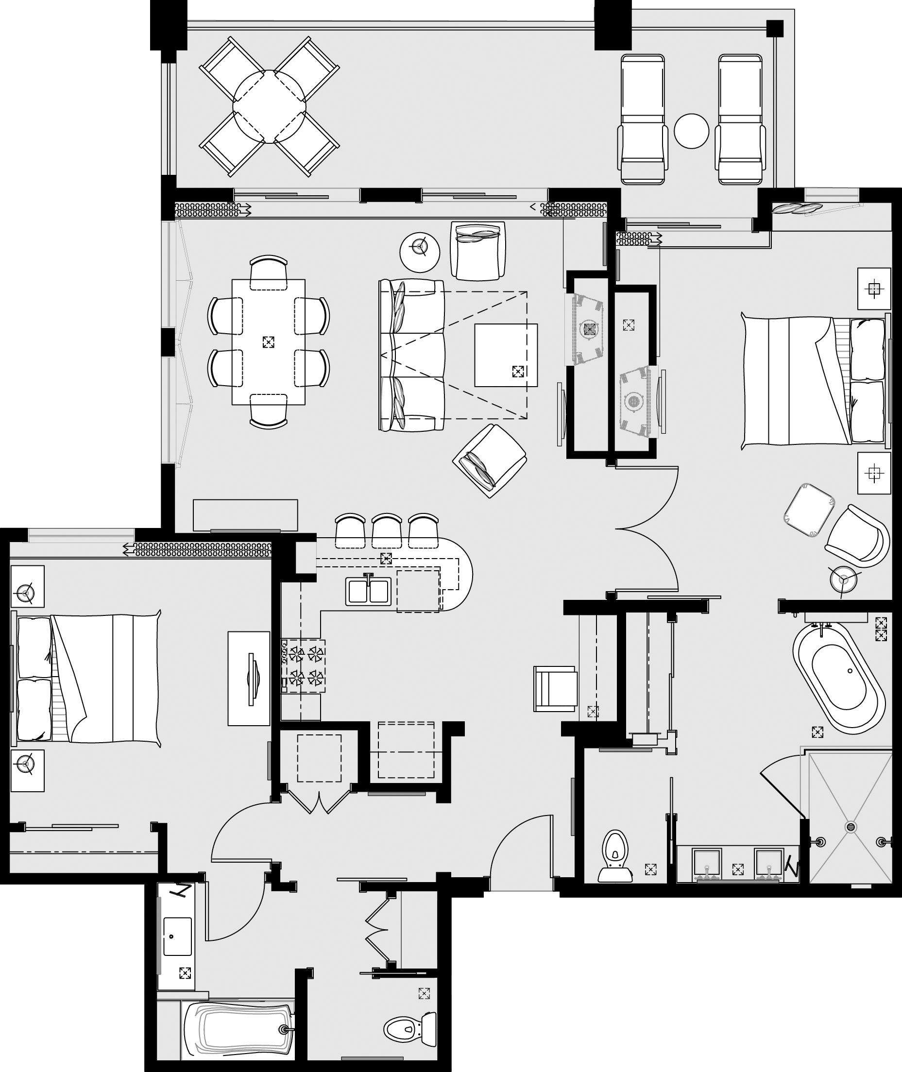 Welk Resorts San Diego Two Bedroom Suite 1 400 Sqft Two Bedroom Suites Welk Resort Resort Plan