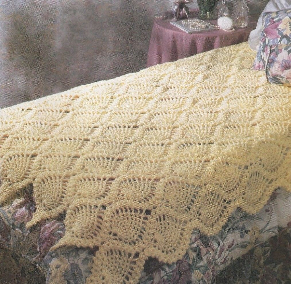 Crochet Pattern ~ Pineapple Perfection Afghan ~ Instructions ...