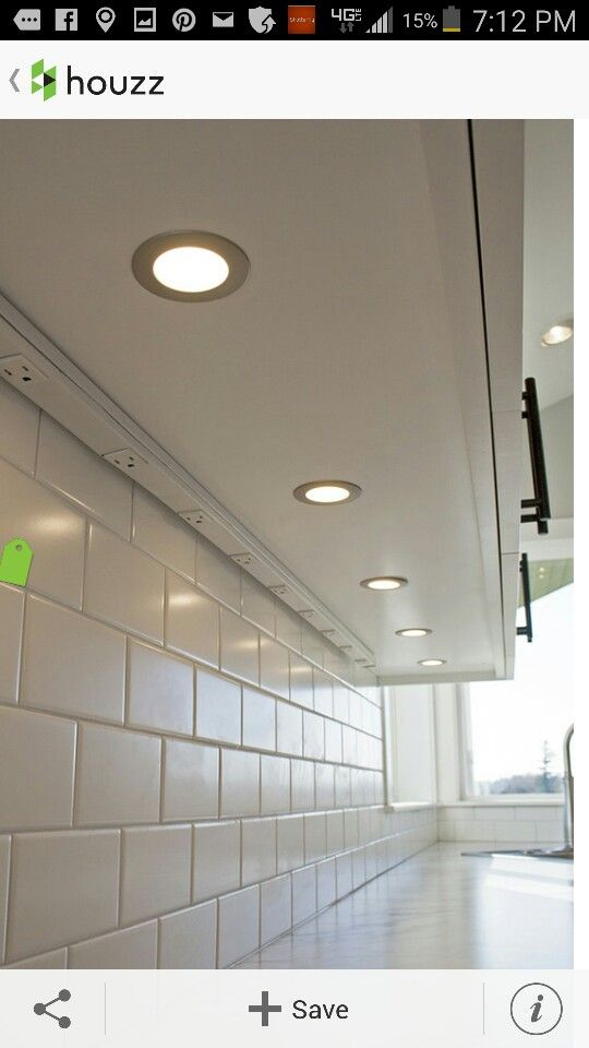 Undercabinet lighting and electrical outlets