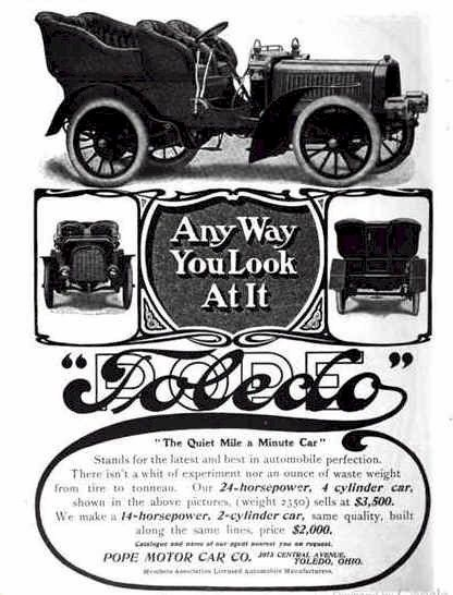 Check Out The Prices On This 1904 Pope Toledo Automobile
