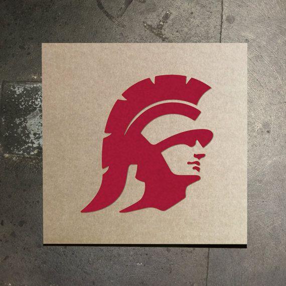 Usc Trojans Stencil By Thestencilstop On Etsy Usc