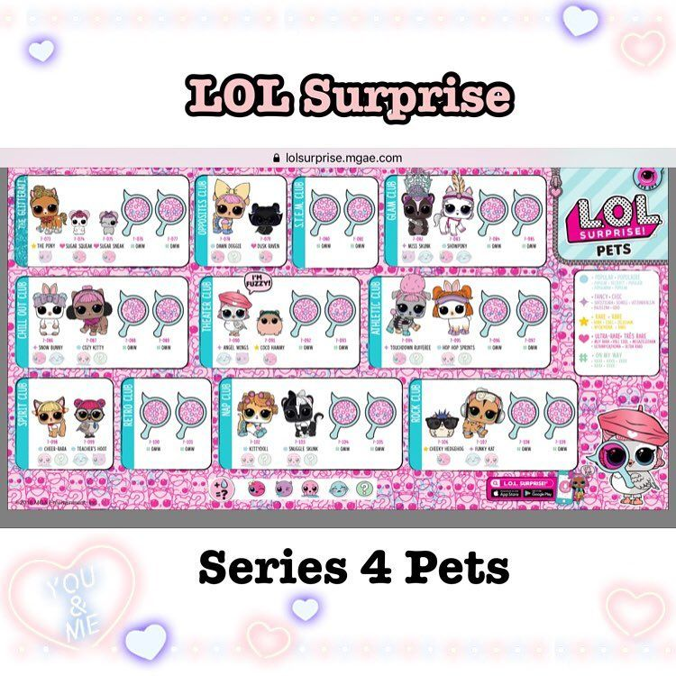 Series 4 Lol Full Checklist Pets Lolsurprisepets Lolsurprisepetsseries4 Lolsurprisepetsseries3 Lolsurprisepetswave2 Lolsurprise Crafts Lol Pets Bilder