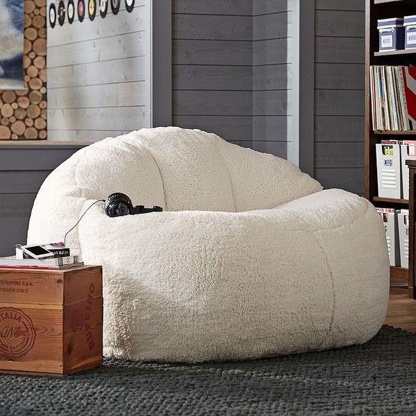 PB Teen Cloud Couch Loveseat, Sherpa Fleece at Pottery Barn ...