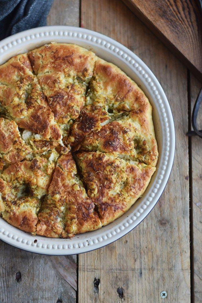 Knoblauch Pfannen Brot Garlic Pan Bread (5)