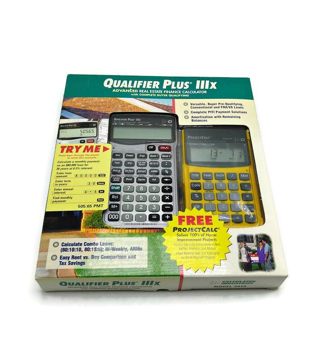 Real Estate Finance Qualifier Plus IIIx 3415 \ Construction - financial calculator
