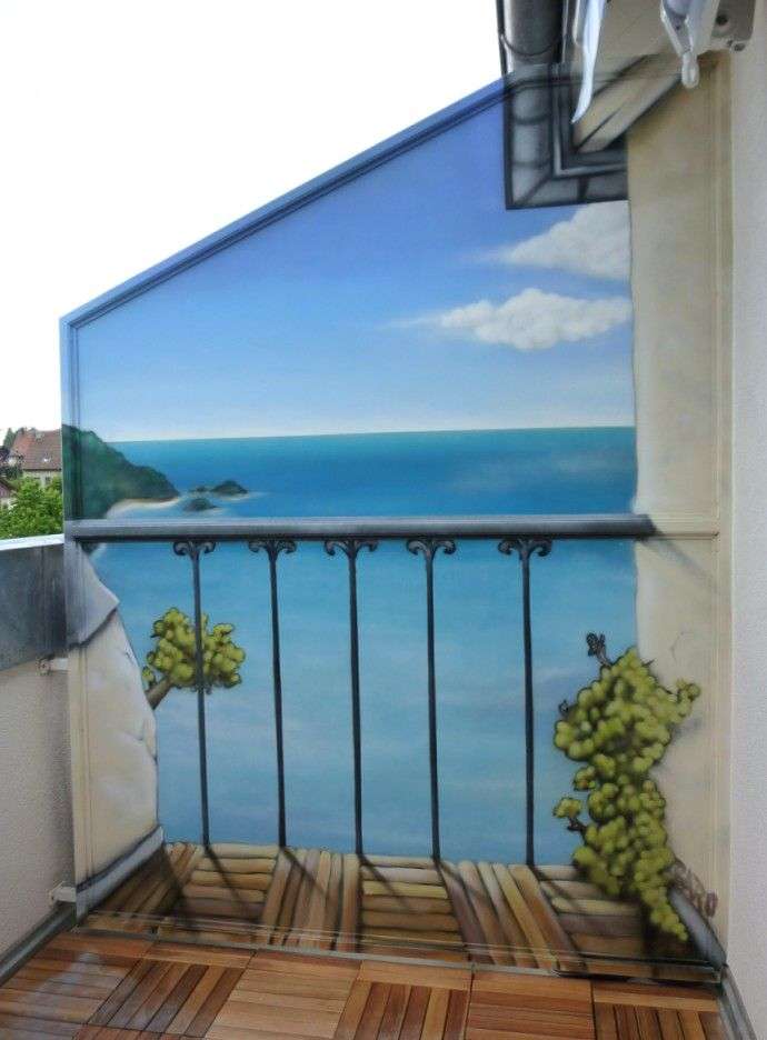 Separación De Terraza Graffeur Ch Paredes Pintadas