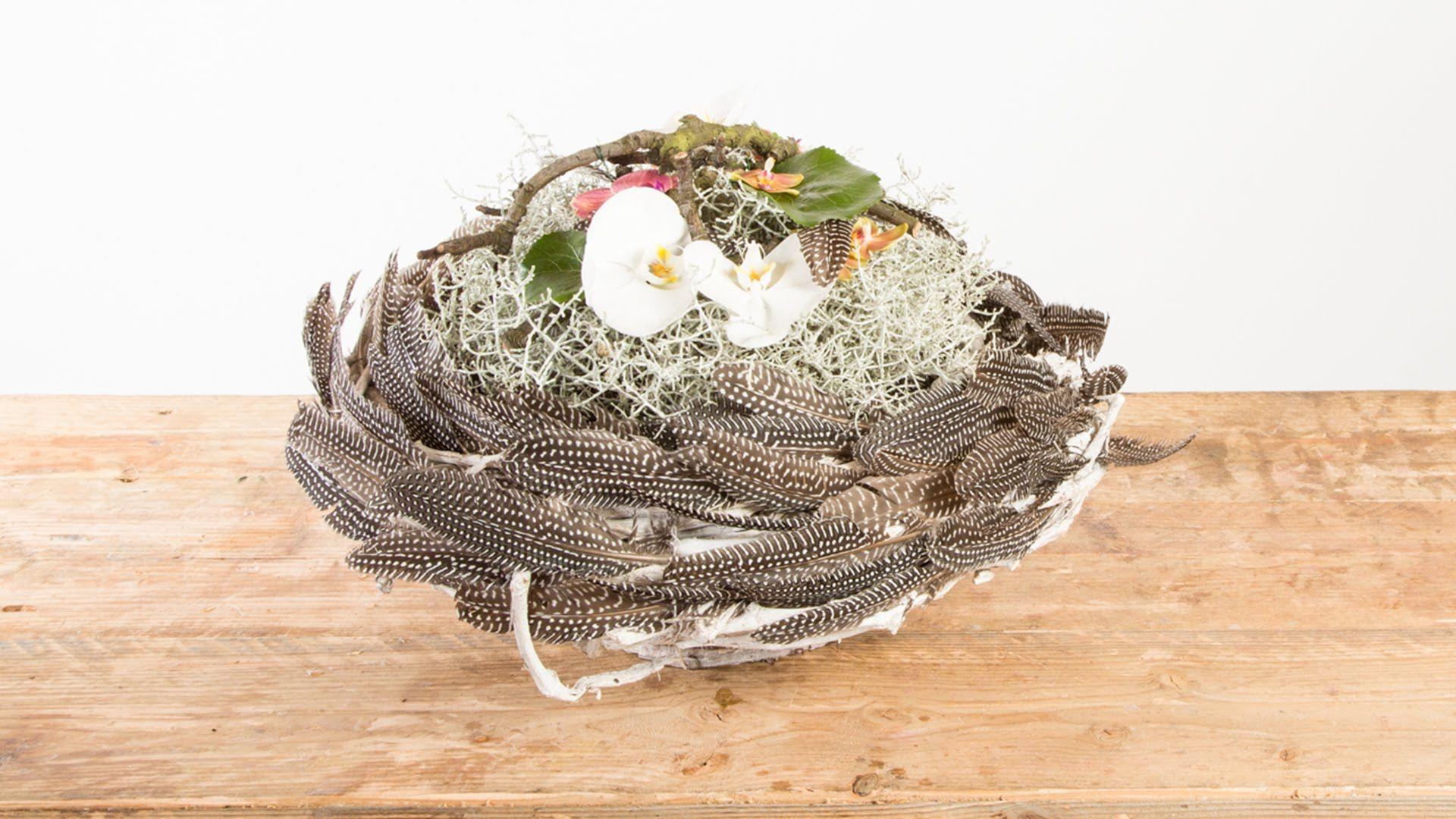 Цветов, букет-гнездо - это