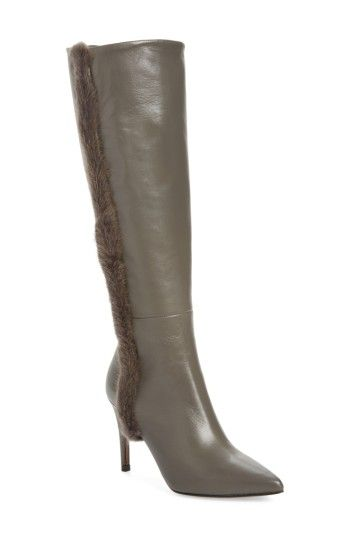 53eb6141459 DONALD J PLINER RAFELA GENUINE MINK FUR TRIM BOOT.  donaldjpliner  shoes